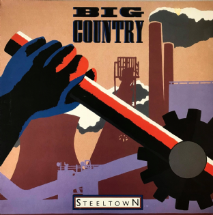 Big Country ‎- Steeltown (LP) (VG-/VG-)